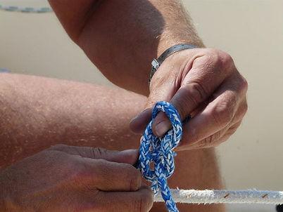 Segeln Knoten üben