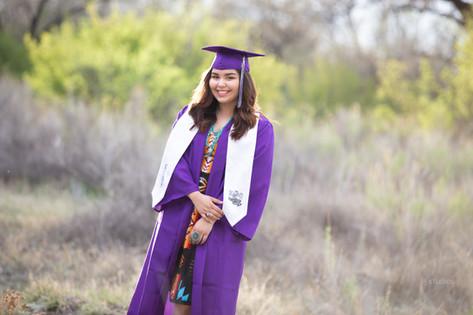 Senior graduate girl