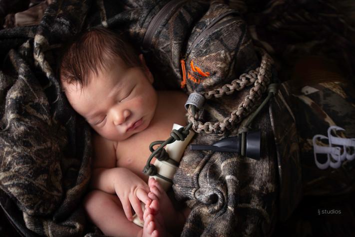 Hunting newborn baby
