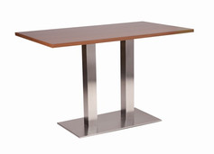 Danilo twin dining base with walnut top