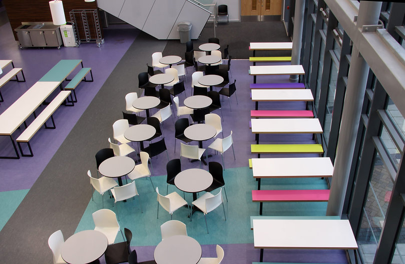 Colourful School Dining Room Furniture