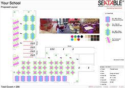 Two Dimensional Plan, Seatable UK, Educational Dining Furniture, Contract furniture, Dining furniture, Restaurant Furniture, School Furniture, Educational Furniture, Bespoke furniture, School Dining