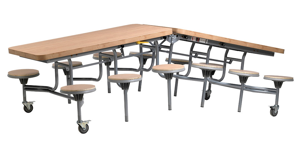 Primo Contemporary Mobile Folding table with stools