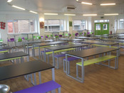 Communal-style school dining furniture