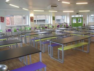 Communal-style school dining furniture