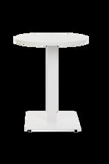 Forza Square White with white round top