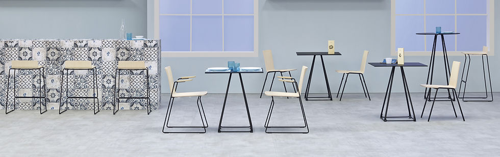 Cafe Furniture With Modern Table And Chairs