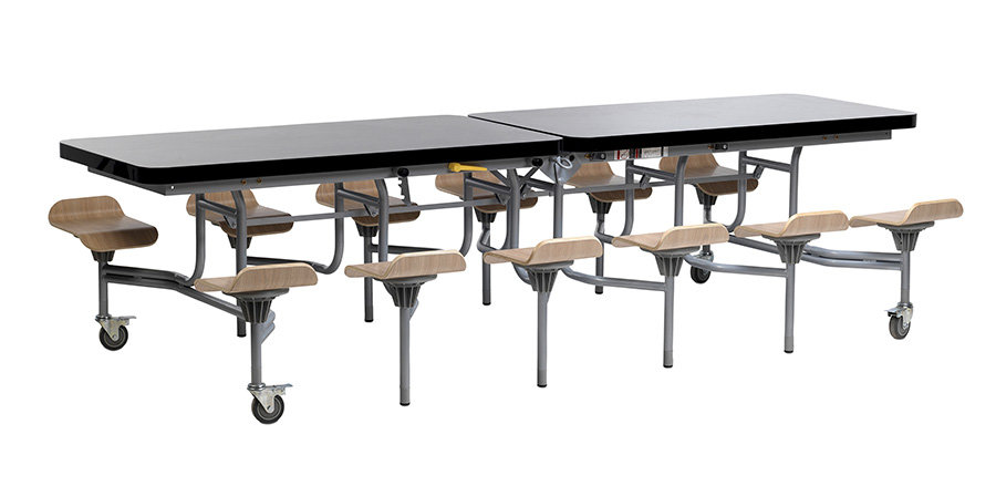 Primo Contemporary Mobile Folding table with seats