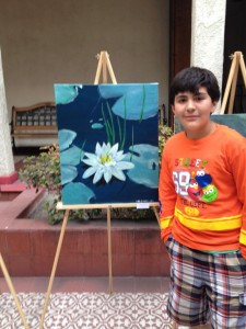Dozens of families gather for Art Night
