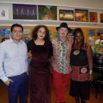 LAMusArt Art teachers Erick Alatamirano, Zeina Baltagi with jurors Gary Brew and Regina Herod