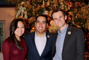 Jasmine Ako, YPAB Chair and Richard Graham, Events Chair with Executive Director Manny Prieto