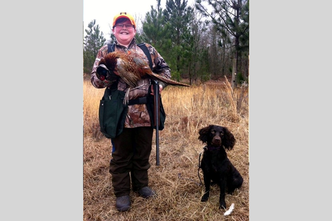 Logan and LaVeau's 1st pheasant