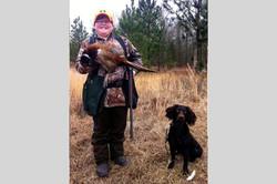 Logan and LaVeau's 1st pheasant