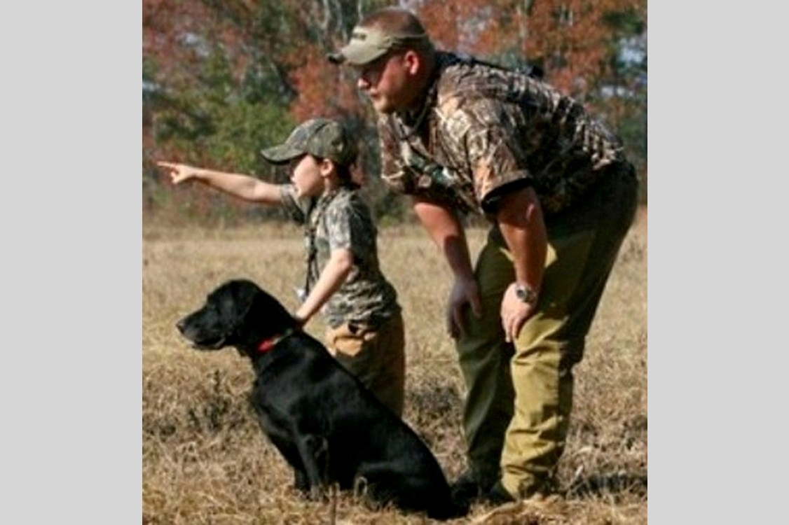 Maggie and Logan 1st Hunt Test 2005