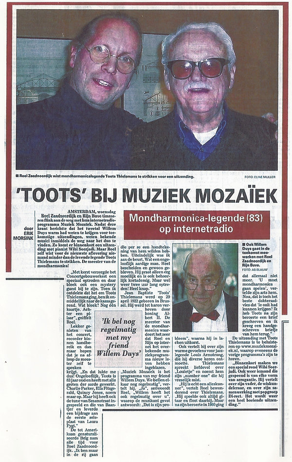 Toots en Roel Telegraaf 4 jan 2006.jpg