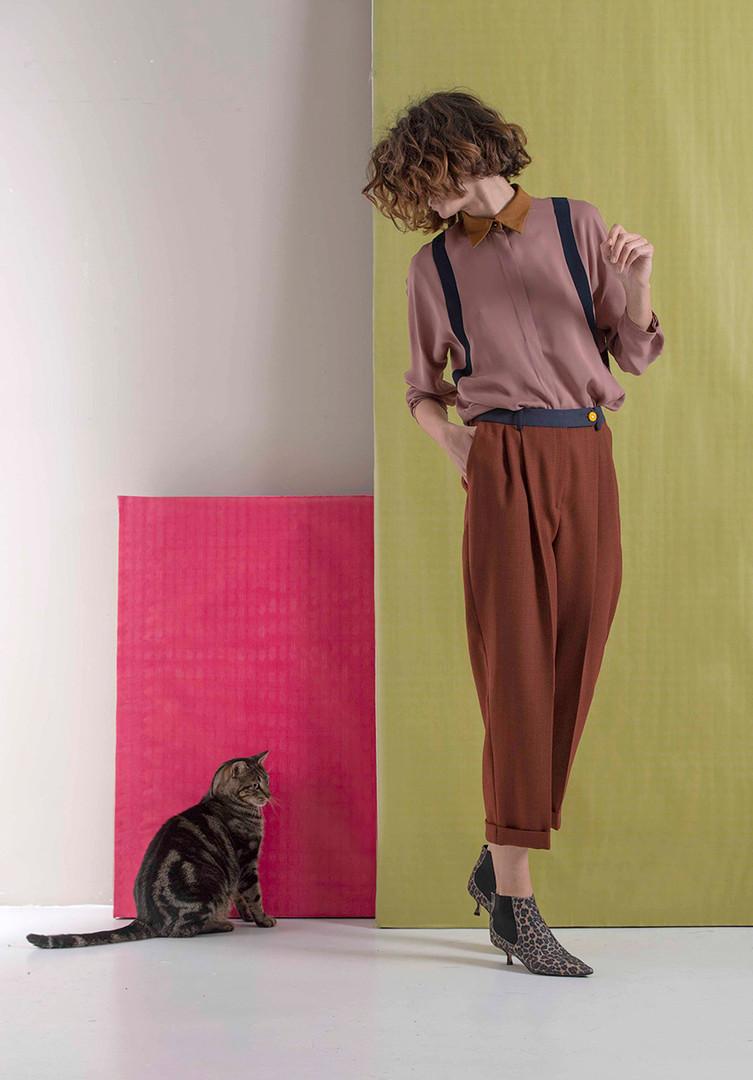 Camicia Cipria - Pantalone Gatsby 120.jp