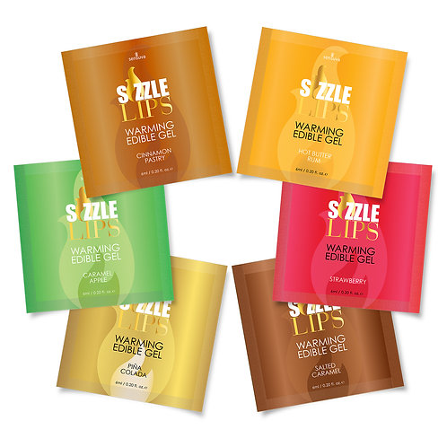 Sizzle Lips Edible Warming Gel Single Use Packet