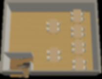 7meetsauce天神新天町店の見取り図2