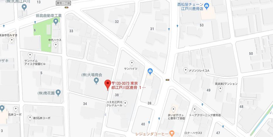 東東京営業所の地図です。