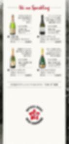 薬院大通駅周辺にあるもつ屋粋星のwのメニュー表ですワイン