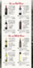 薬院大通駅周辺にあるもつ屋粋星のワインのメニュー表です