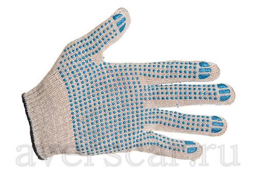 Перчатки рабочие Эконом ПВХ 10 класс 4 нити