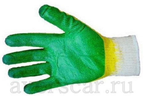 Перчатки двойной облив латекс