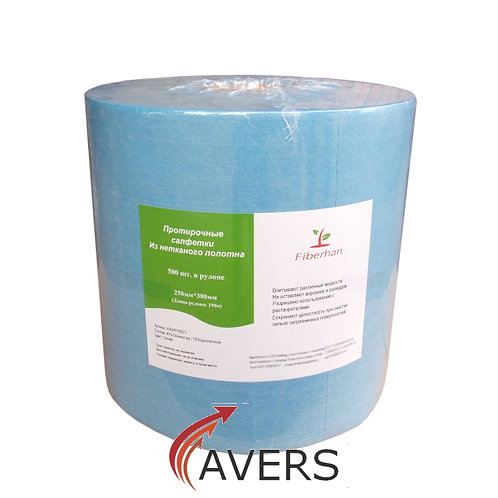 Салфетка безворсовая (250х380; 60г/кв.м) в рулоне
