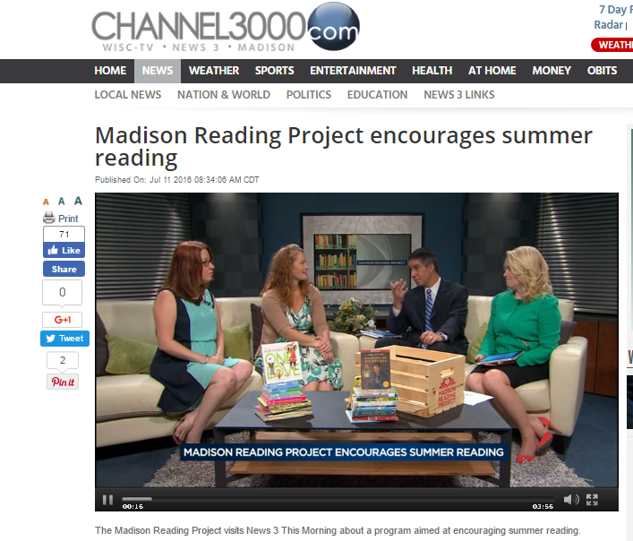 Watch the full interview: Channel 3000 WISC TV | Madison