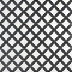 Norwalk Floor Deco Black and White 8x8
