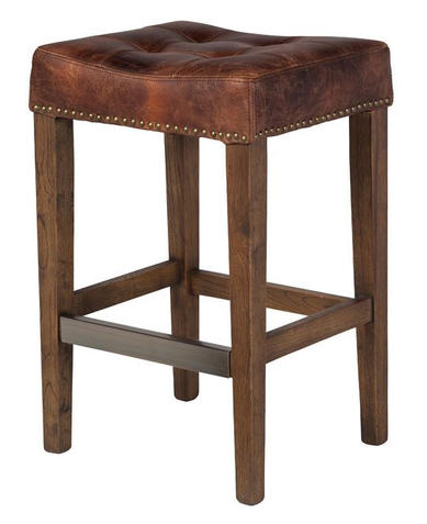 Ash Counter Stool Vintage Brown Leather