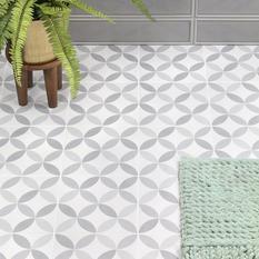 Norwalk Floor Deco Gray 8x8 Matte Porcelain