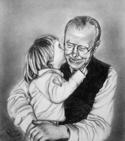 Grandpa with Little Girl