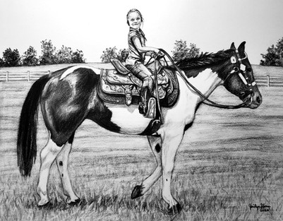 Girl and Horse_11x14