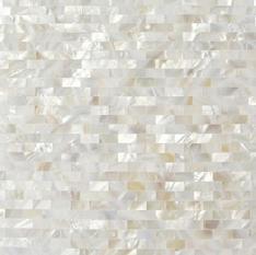 Serene White Bricks Seamless Pearl Shell