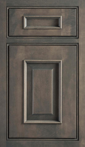 Gray or Neutral Beige Stained Cabinetry
