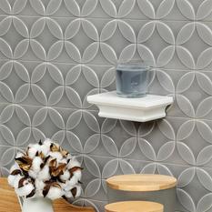 Norwalk Deco Gray 4x24 Polished Ceramic