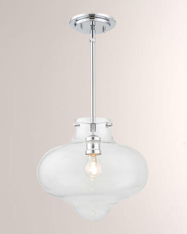 Industrial 12 in. Chrome Pendant