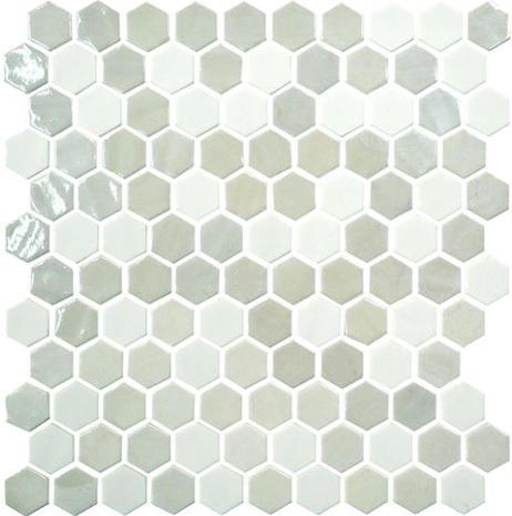 Uptown Glass Hexagon_Alabaster