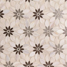 Wildflower Pale Oak Marble Tile