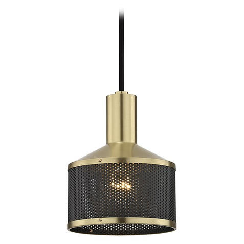 Industrial Mini Pendant Brass