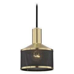 Industrial Mini Pendant Brass