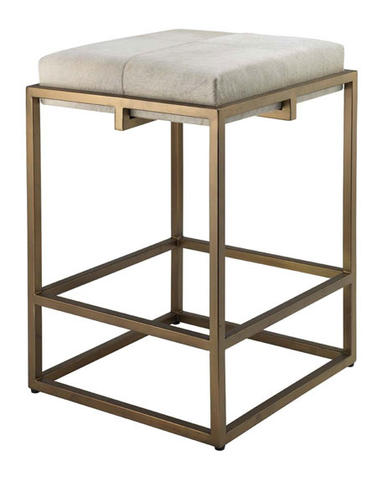 Shelby Hair Hide Counter Stool