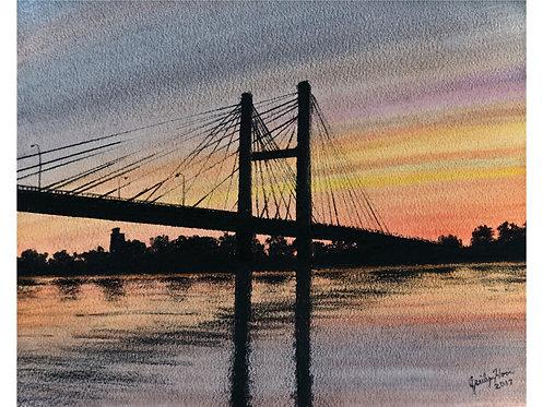 Evening Burlington Bridge
