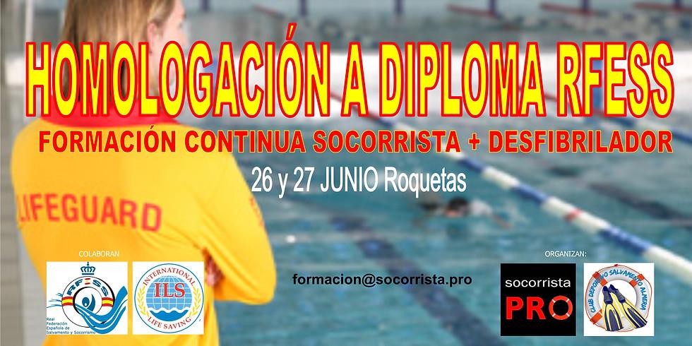Homologación a RFESS de otros diplomas socorrista acuático
