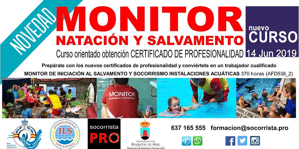 Monitor natación + monitor iniciación salvamento en piscina