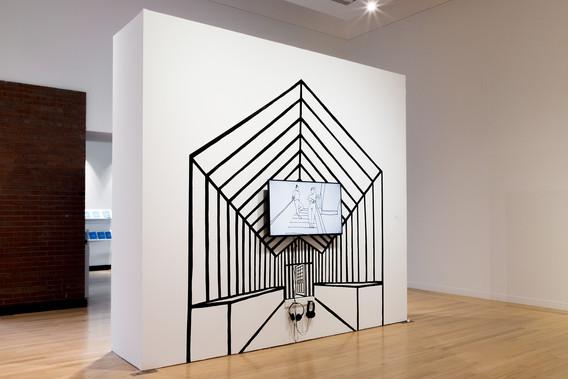 body we hide, animation installation, 2019