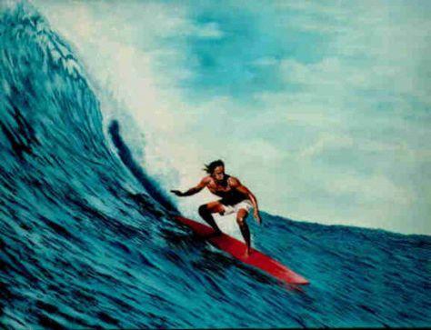 Eddie Aikau surfing big wave