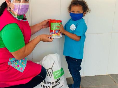 50 familias del CET de El Bale de Ñürüm recibieron bolsas de comidas