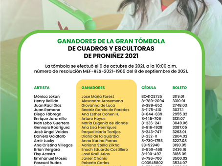 Ganadores de Gran Tómbola de cuadros y esculturas 2021